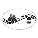 Barrel Racer Oval Sticker (50 pk)