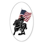 Rodeo Flags Oval Sticker (50 pk)