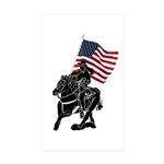 Rodeo Flags Rectangle Sticker 50 pk)