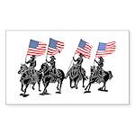 Rodeo Flag Team Rectangle Sticker 50 pk)