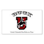 Buck U Bronc Rectangle Sticker 10 pk)