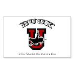 Buck U Bronc Rectangle Sticker 50 pk)