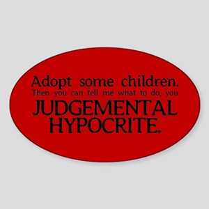 No Hypocrisy Oval Sticker