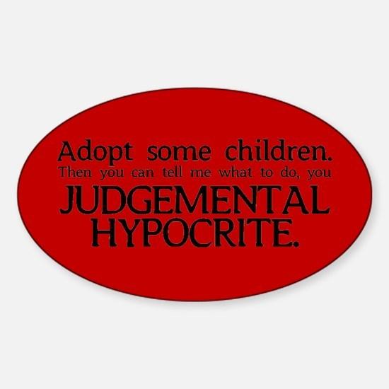 No Hypocrisy Oval Stickers