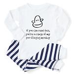 Poo-Flinging Monkey - Baby /Toddler Pajamas