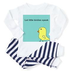 Let little birdies speak Toddler Pajamas