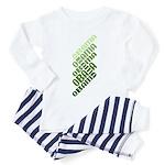 Stacked Obama Green Toddler Pajamas