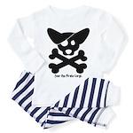 Pirate Corgi Skull Toddler Pajamas