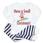 Santa Surfing Toddler Pajamas