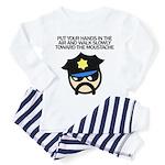 Walk Toward the Moustache Toddler Pajamas