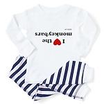 I love the Monkeybars - Toddler Pajamas