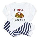 I Love Pancakes Toddler Pajamas
