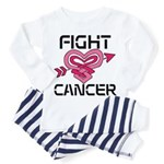 Fight Cancer Toddler Pajamas