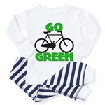 Go Green Bicycle Ecology Toddler Pajamas