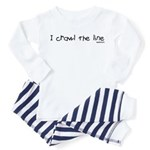 I crawl the line Toddler Pajamas