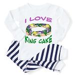 I LOVE KING CAKE Toddler Pajamas