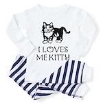 I LOVES ME KITTY - Baby / Toddler Pajamas