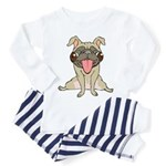 Happy Pug Toddler Pajamas
