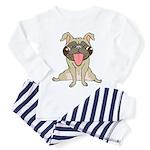 Happy Pug Toddler Pajamas