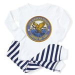 USS HARLAN COUNTY Infant Pajamas