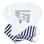 Know Your Cuts of Lamb Toddler Pajamas