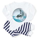 Bubble Dolphin Toddler Pajamas
