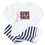 Give Back Pink Ribbon Toddler Pajamas