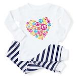 Love & Peace in Heart Toddler Pajamas