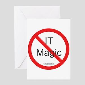 No IT Magic Greeting Card