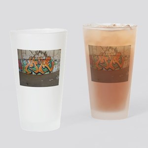 Orange grad art Drinking Glass