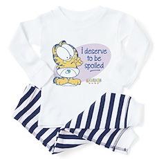 Spoiled Baby Garfield Toddler Pajamas