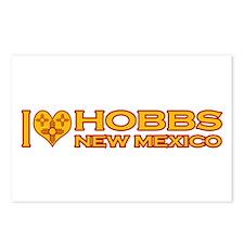 I Love Hobbs, NM Postcards (Package of 8)