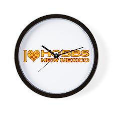 I Love Hobbs, NM Wall Clock