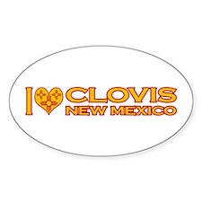 I Love Clovis, NM Oval Sticker