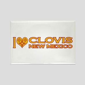 I Love Clovis, NM Rectangle Magnet