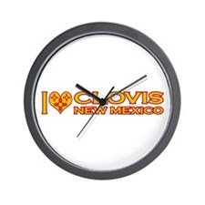 I Love Clovis, NM Wall Clock