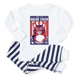 Obey the Maine Coon Cat! Baby/Toddler Pajamas