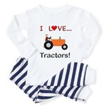 I Love Orange Tractors Toddler Pajamas