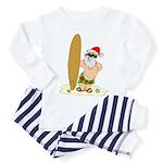 Surfing Santa Toddler Pajamas