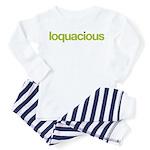 loquacious (talkative) Toddler Pajamas