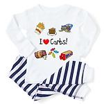 I Love Carbs Toddler Pajamas