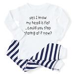 stop staring at my flat head Toddler T-Shir