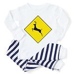 Deer Crossing Sign - Toddler Pajamas