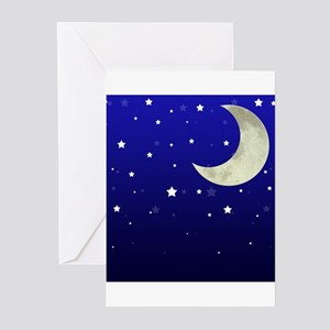Moon and Stars Greeting Cards