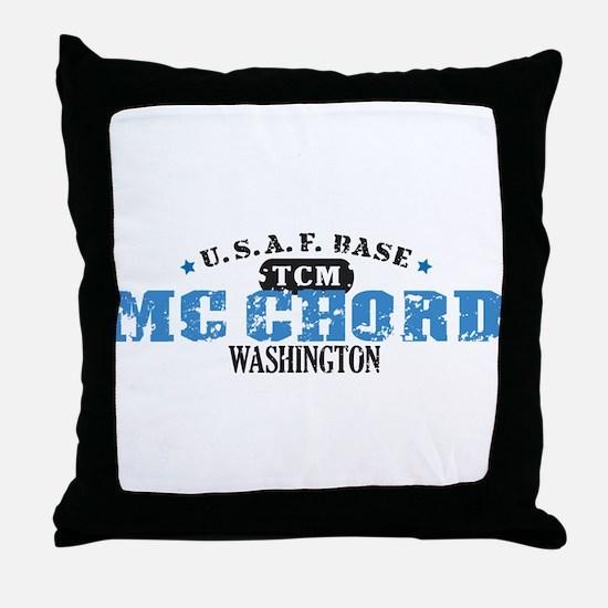 McChord Air Force Base Throw Pillow
