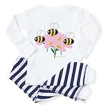 Triplet Bees Toddler Pajamas