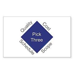 QCSS Rectangle Sticker 50 pk)
