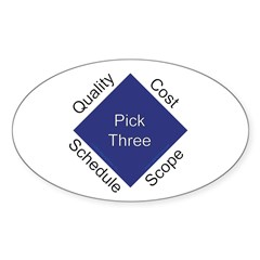 QCSS Oval Sticker (50 pk)