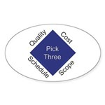 QCSS Oval Sticker (10 pk)
