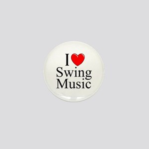 """I Love (Heart) Swing Music"" Mini Button"